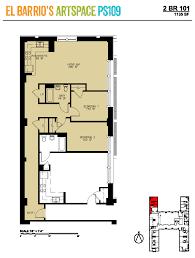 floor plan live el barrio u0027s artspace ps109 artspace