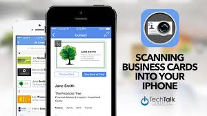 Scan Business Cards Android Scanning Business Cards Into Your Iphone Youtube