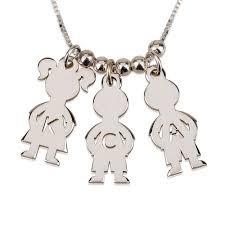 Mom Necklaces With Children S Names Silver Kids Name Charms Boy U0026 Mother Necklace Engraved