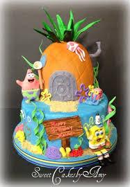 spongebob birthday cakes spongebob squarepants birthday cake cakecentral