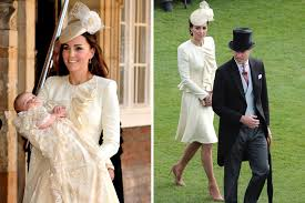 kate middleton re wears prince george christening coat for queen u0027s