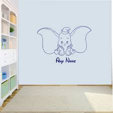 elephant wall stickers ebay personalised dumbo elephant wall art decal sticker girls boys nursey bedroom