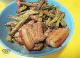 pork belly and long beans adobo 240 baons 365 meals