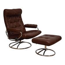 vintage ekornes stressless recliner and ottoman mixed modern