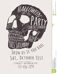 skull halloween party invitation flyer stock vector image 59502430