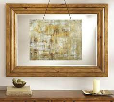 wood framed wall empty picture frames framing objects bold wall decor ideas