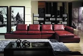 furniture maroon leather sofa designed in simple style matching
