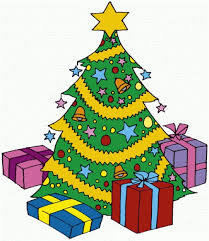 christmas tree with presents clipart for kids clipground