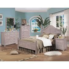 Rattan Bedroom Furniture Sea Winds B357kbed Rustwd Tortuga King Bed In Distressed Washed