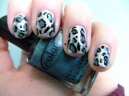 nails designs cheetah and zebra