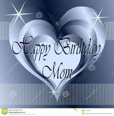 happy birthday greeting card for mothers royalty free stock images