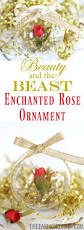 this simple diy beauty and the beast enchanted rose ornament is