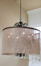 upgrading an old chandelier with paint u0026 a new shade diy drum