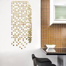mirror mosaic background wall stickers home decor diy creative