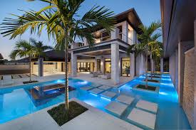 custom luxury home designs custom luxury home designs with pointed roof and white concrete