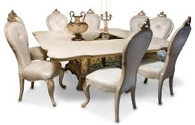 aico platine de royale square dining set in champagne usa