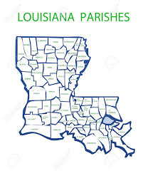 Maps Of Louisiana Map Of Louisiana Showing The Names And Borders Of The Parishes