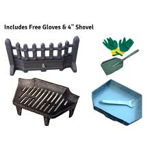 beacon fret fire front grate and ashpan black fire set 16 or 18