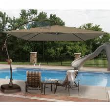 Patio Umbrellas Cantilever Seabrooke 10 Square Cantilever Umbrella With Base Patio Umbrellas