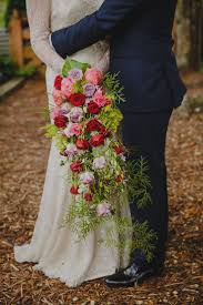 vintage trailing wedding bouquets silk trailing bouquet