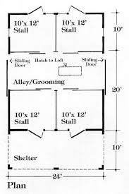 10 Stall Horse Barn Plans Chestnut 4 Stall Stable Plan