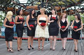 Red And Black Wedding Red And Black Modern Vintage Nyc Wedding Glamour U0026 Grace