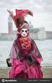 venetian costume carneval mask in venice venetian costume stock editorial photo