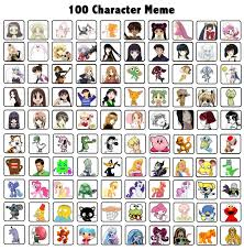 Meme Character - 100 character meme by astroasis on deviantart