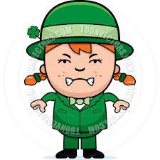 angry child leprechaun by cory thoman toon vectors eps 4813
