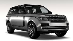 land rover black 2017 range rover svautobiography dynamic lwb 2017 3d model vehicles 3d