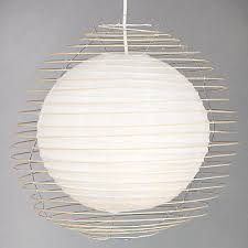 Paper Pendant Lamps Objects Of Design 256 Caged Paper Pendant Shade Mad About The