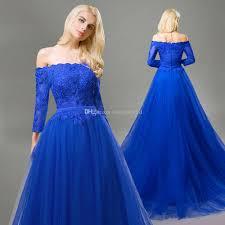 dh prom dresses royal blue formal dresses evening wear sleeve beading vintage