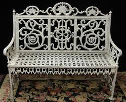 cast iron victorian garden bench love the white for the cottage