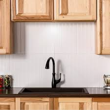 vinyl kitchen backsplash fasade bead board 24 25 in x 18 25 in vinyl backsplash in gloss