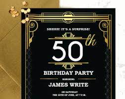 Gatsby Invitations Bridal Shower Invitation Template Diy Great Gatsby Bridal