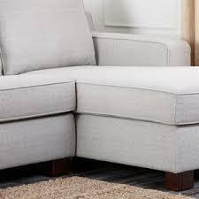 Abbyson Sectional Sofa Abbyson Living Fabric Sectional Sofa In Gray