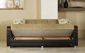 luna bed luna fulia sleeper sofa storage in two tone by sunset