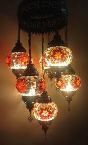 Mosaic Chandelier Turkish Buy Turkish Handmade Orange 7 Ball Mosaic Chandelier From