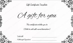 bussiness gift certificate template gift certificate template