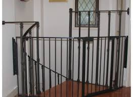 Best Baby Gate For Banisters Best Baby Gates For Stairs With Banisters Home Stair Design Metal