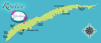 map of roatan honduras upachaya eco lodge and wellness resort roatan honduras