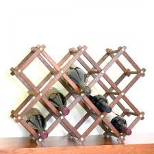 vintage worn look wood collapsible wine rack just for you baby