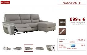 canape relax pas cher canapé d angle droit relax tobara simili et microfibre gris canapé