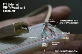 universal usb to breadboard connector