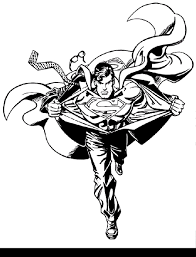 superman coloring pages free large images