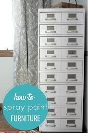 how to spray paint furniture simple recipes diy tutorials