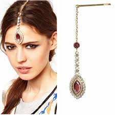 india ornaments indian headpiece tikli decorated gold