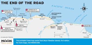 Map Of Hawaii Island Printable Travel Maps Of Kaua U0027i Moon Travel Guides