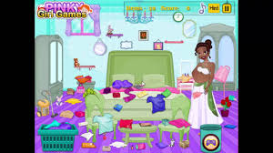 ᴴᴰ disney game movie pregnant tiana messy room cleaning