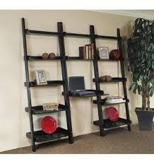 Leaning Bookshelf With Desk 25 Inch Leaning Ladder Desks Burr U0027s Unfinished Furniture